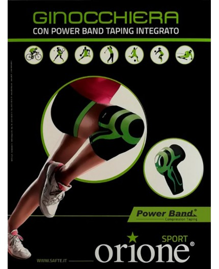 Orione Ginocchiera con Power Band Taping Integrato