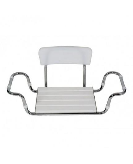 Sedile in Plastica con Schienale per Vasca da Bagno